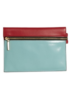 Victoria Beckham Small Zip Leather Pouch