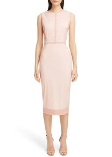 Victoria Beckham Stretch Silk Organza Sheath Dress