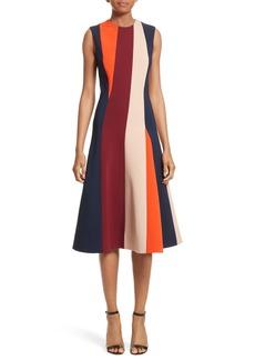 Victoria Beckham Stripe Flare Dress