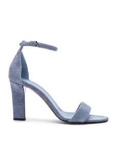 Victoria Beckham Suede Anna Ankle Strap Sandals