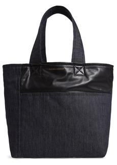 Victoria Beckham Sunday Denim & Leather Tote Bag