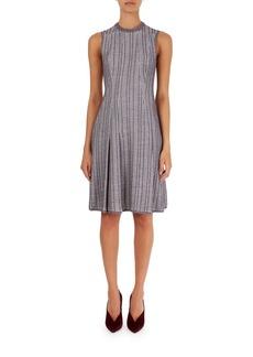 Victoria Beckham Textured Plaid Flippy Dress