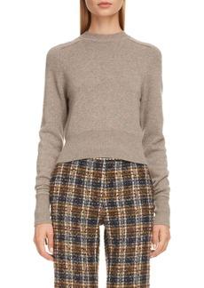 Victoria Beckham Tie Cuff Cashmere Blend Sweater