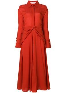 Victoria Beckham tie waist shirt dress - Red