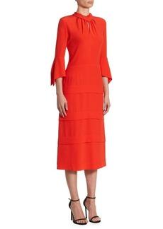 Victoria Beckham Tiered Silk Midi Dress
