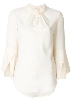 Victoria Beckham twist detail blouse - Nude & Neutrals