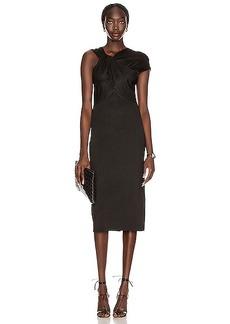 Victoria Beckham Twist Drape Fitted Dress