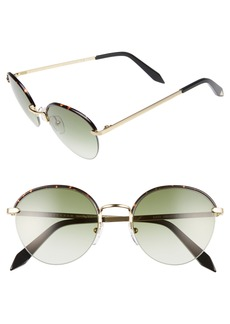 Victoria Beckham Windsor 52mm Round Sunglasses
