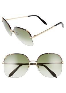 Victoria Beckham Windsor 60mm Gradient Lens Square Sunglasses