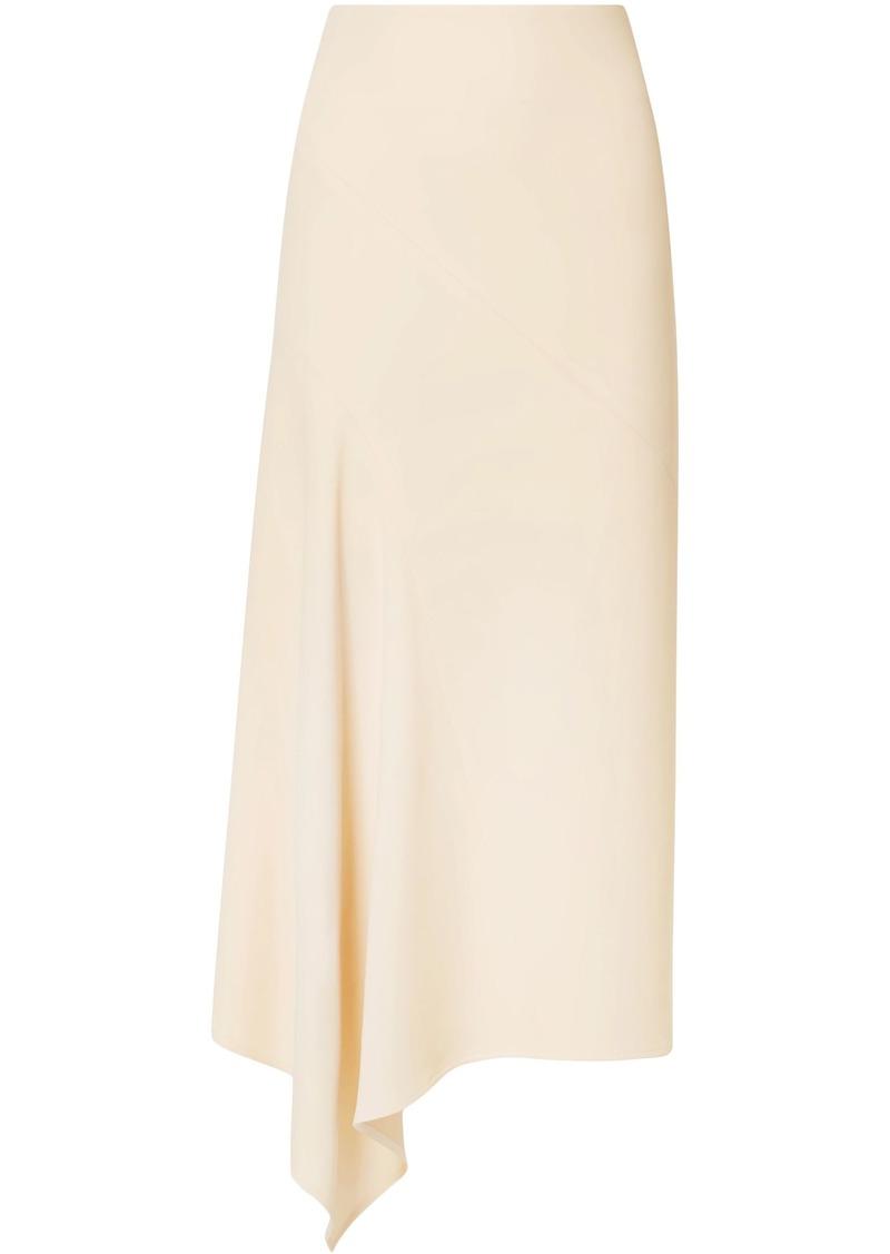 Victoria Beckham Woman Asymmetric Cady Skirt Beige