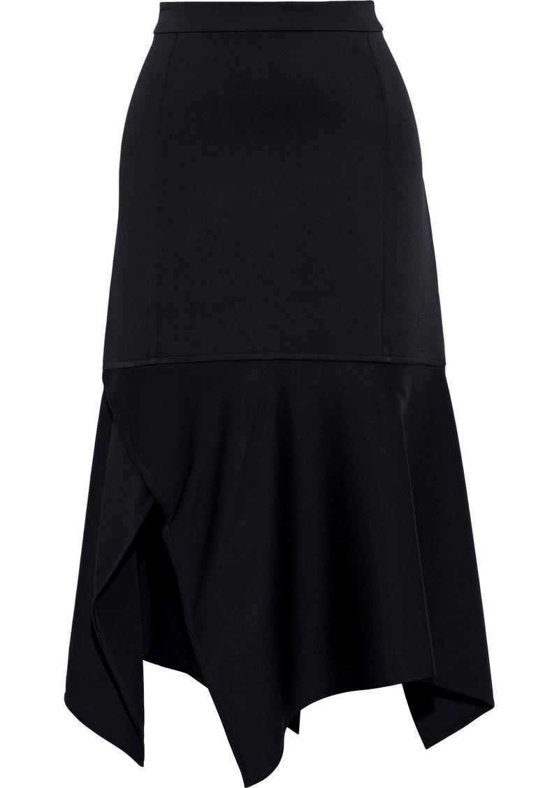 Victoria Beckham Woman Asymmetric Crepe Skirt Black