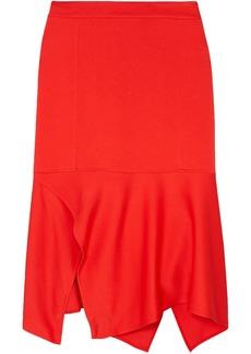 Victoria Beckham Woman Asymmetric Crepe Skirt Tomato Red