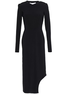 Victoria Beckham Woman Asymmetric Stretch-knit Midi Dress Black