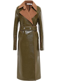 Victoria Beckham Woman Belted Coated Wool-blend Trench Coat Army Green