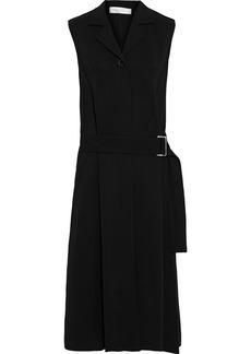 Victoria Beckham Woman Belted Stretch-crepe Midi Dress Black