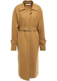 Victoria Beckham Woman Belted Wool And Cashmere-blend Coat Camel
