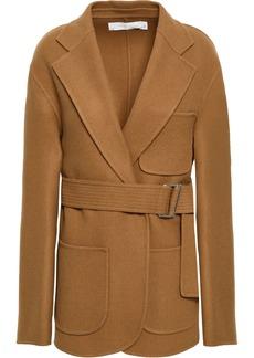 Victoria Beckham Woman Belted Wool And Cashmere-blend Felt Jacket Camel