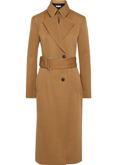 Victoria Beckham Woman Belted Wool-twill Trench Coat Camel