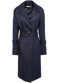 Victoria Beckham Woman Belted Wool-twill Trench Coat Navy