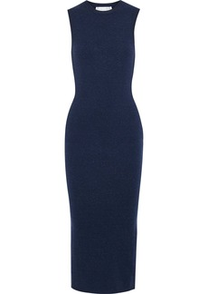 Victoria Beckham Woman Brushed Stretch-knit Midi Dress Navy