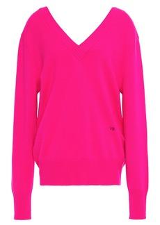 Victoria Beckham Woman Cashmere-blend Sweater Bright Pink