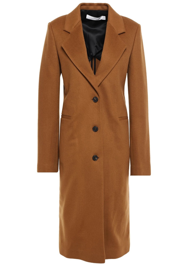 Victoria Beckham Woman Cashmere Brushed-felt Coat Light Brown