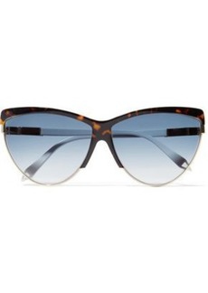 Victoria Beckham Woman Cat-eye Tortoiseshell Acetate Sunglasses
