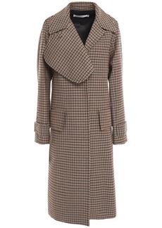 Victoria Beckham Woman Checked Wool Coat Black