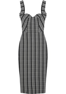 Victoria Beckham Woman Checked Woven Dress Black