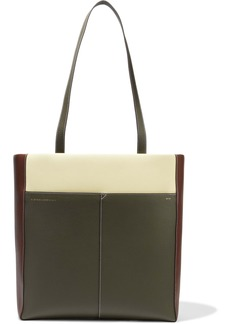 Victoria Beckham Woman Color-block Leather Tote Sage Green