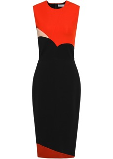 Victoria Beckham Woman Color-block Ponte Dress Black