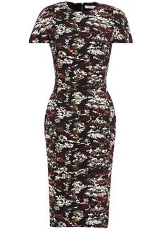 Victoria Beckham Woman Cotton-blend Jacquard Dress Black
