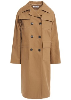 Victoria Beckham Woman Cotton-drill Trench Coat Camel
