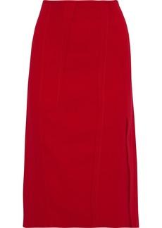 Victoria Beckham Woman Crepe Pencil Skirt Red