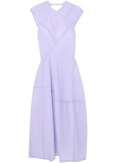 Victoria Beckham Woman Crinkled-organza Midi Dress Lavender
