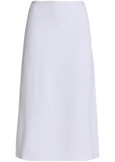 Victoria Beckham Woman Crochet-knit Midi Skirt White