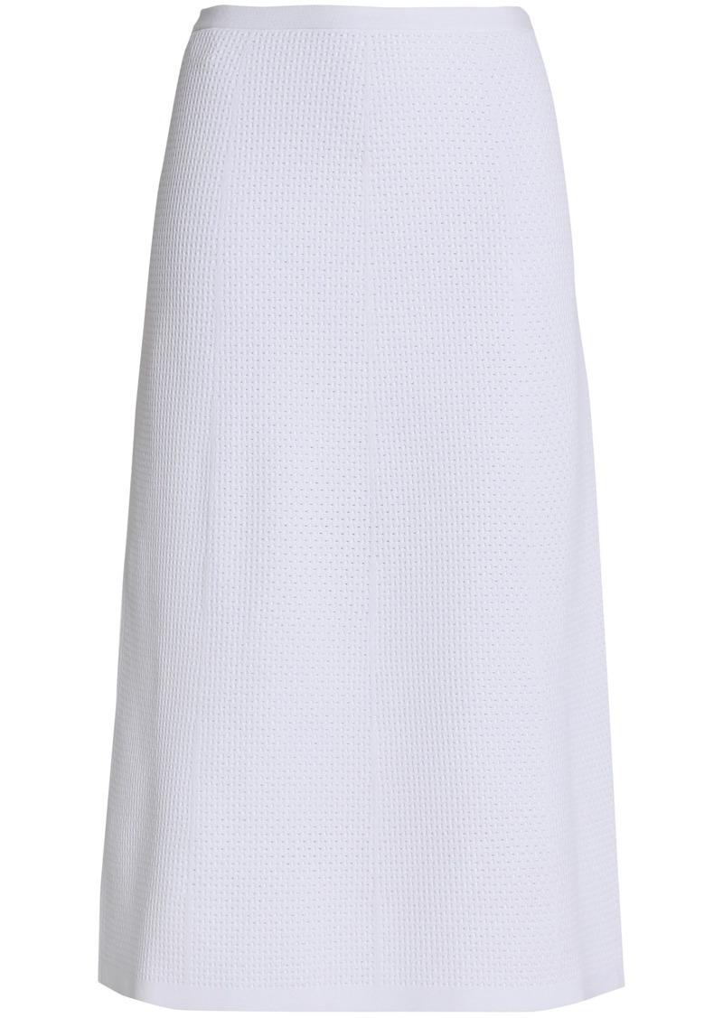 Victoria Beckham Woman Crochet-knit Midi Skirt White