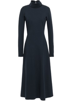Victoria Beckham Woman Cutout Jersey Midi Dress Navy