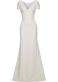 Victoria Beckham Woman Cutout Silk And Wool-blend Gown Ivory