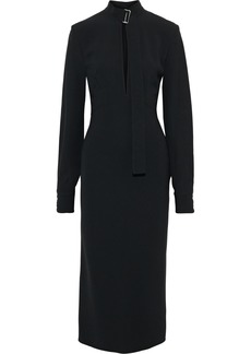 Victoria Beckham Woman Cutout Stretch-cady Midi Dress Black