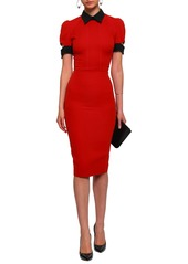 Victoria Beckham Woman Cutout Wool And Silk-blend Crepe Dress Red