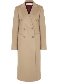 Victoria Beckham Woman Double-breasted Cashmere-felt Coat Sand