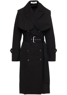 Victoria Beckham Woman Double-breasted Cotton-canvas Trench Coat Black