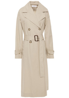 Victoria Beckham Woman Double-breasted Cotton-twill Trench Coat Beige