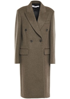 Victoria Beckham Woman Double-breasted Wool And Cashmere-blend Felt Coat Army Green