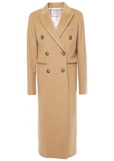 Victoria Beckham Woman Double-breasted Wool-felt Coat Camel
