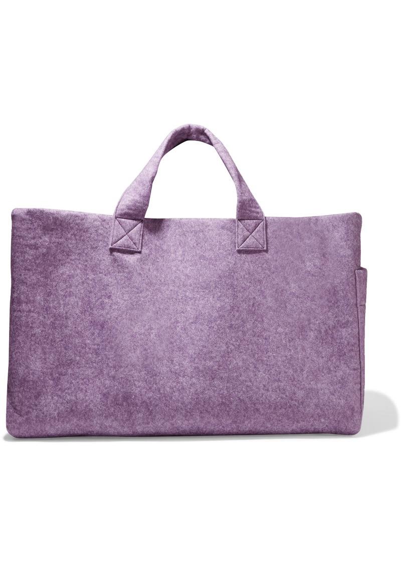 Victoria Beckham Woman Duvet Brushed Wool-blend Tote Violet
