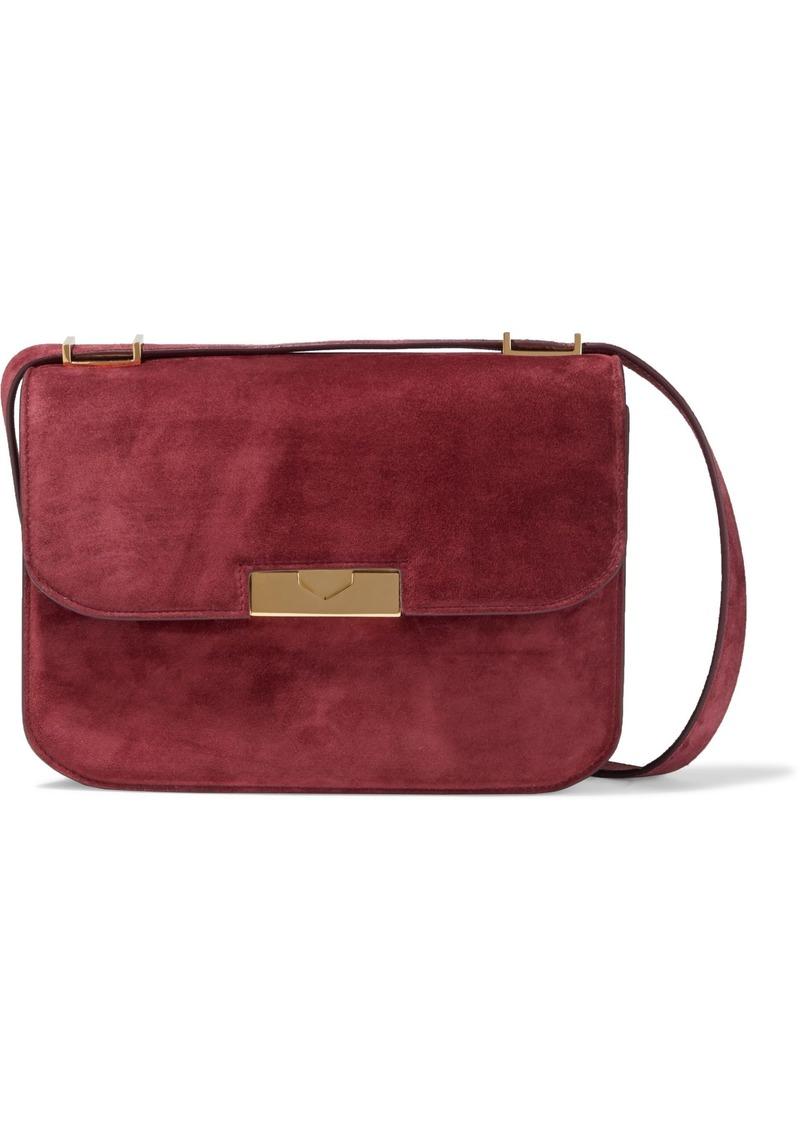 Victoria Beckham Woman Eva Suede Shoulder Bag Burgundy