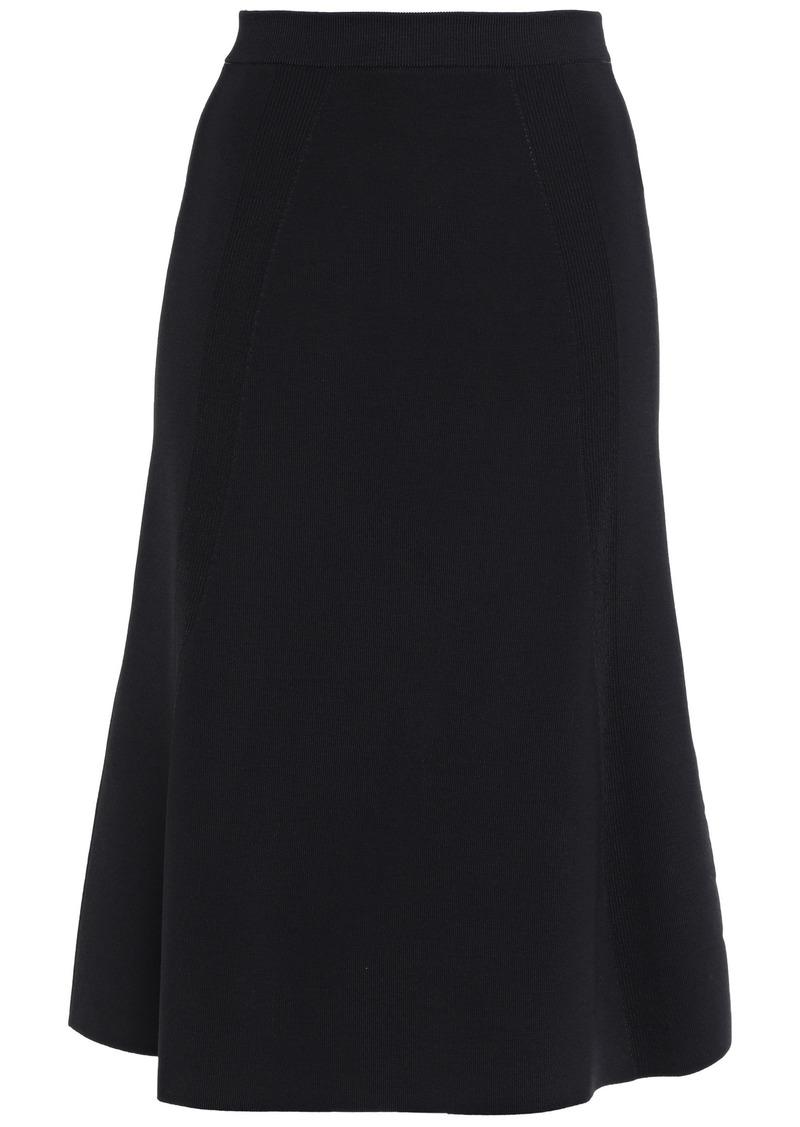 Victoria Beckham Woman Flared Stretch-knit Skirt Black