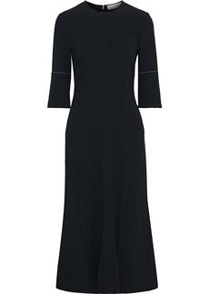 Victoria Beckham Woman Fluted Stretch-cady Midi Dress Black